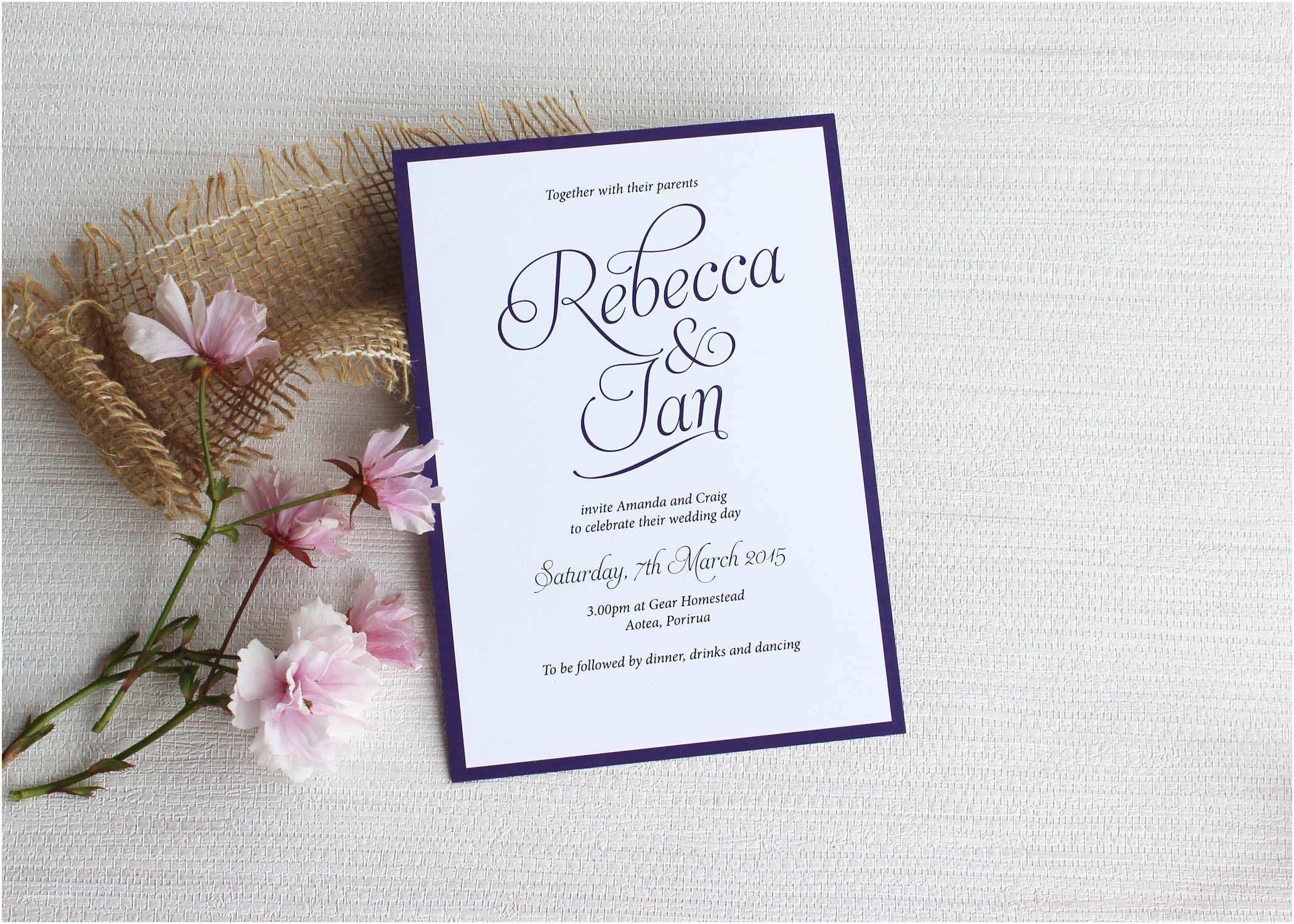 Simple Wedding Reception Invitations Simple Script Wedding Invitations Be My Guest