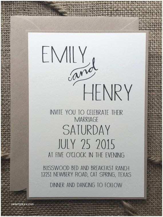 Simple Wedding Reception Invitations Simple Wedding Invitations Best Photos Cute Wedding Ideas
