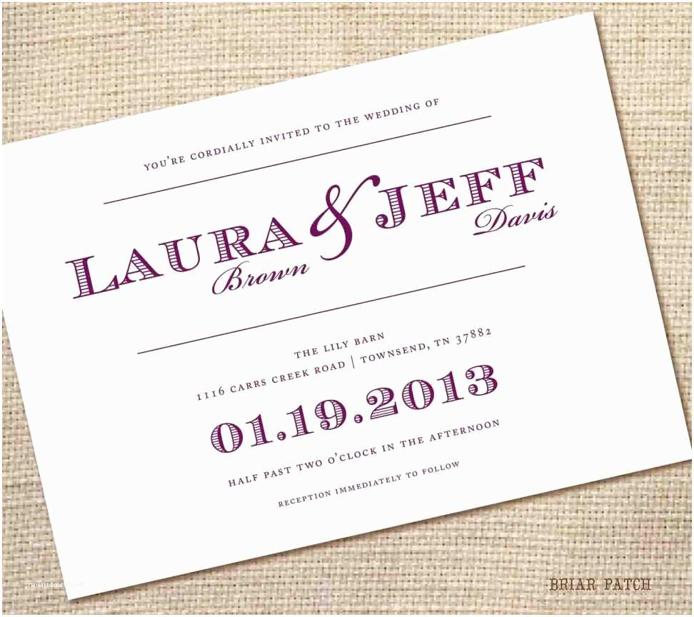 Simple Wedding Reception Invitations Wedding Invitation Templates Simple Wedding Invitation