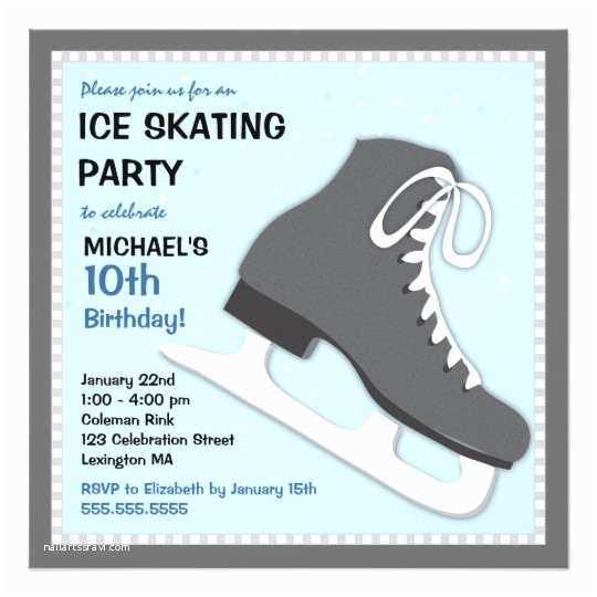 Skate Party Invitations Cool Dudes Ice Skating Birthday Party Invitation