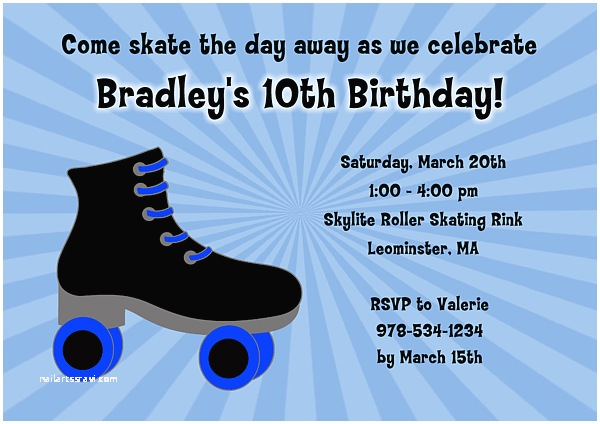 free roller skating party invitation