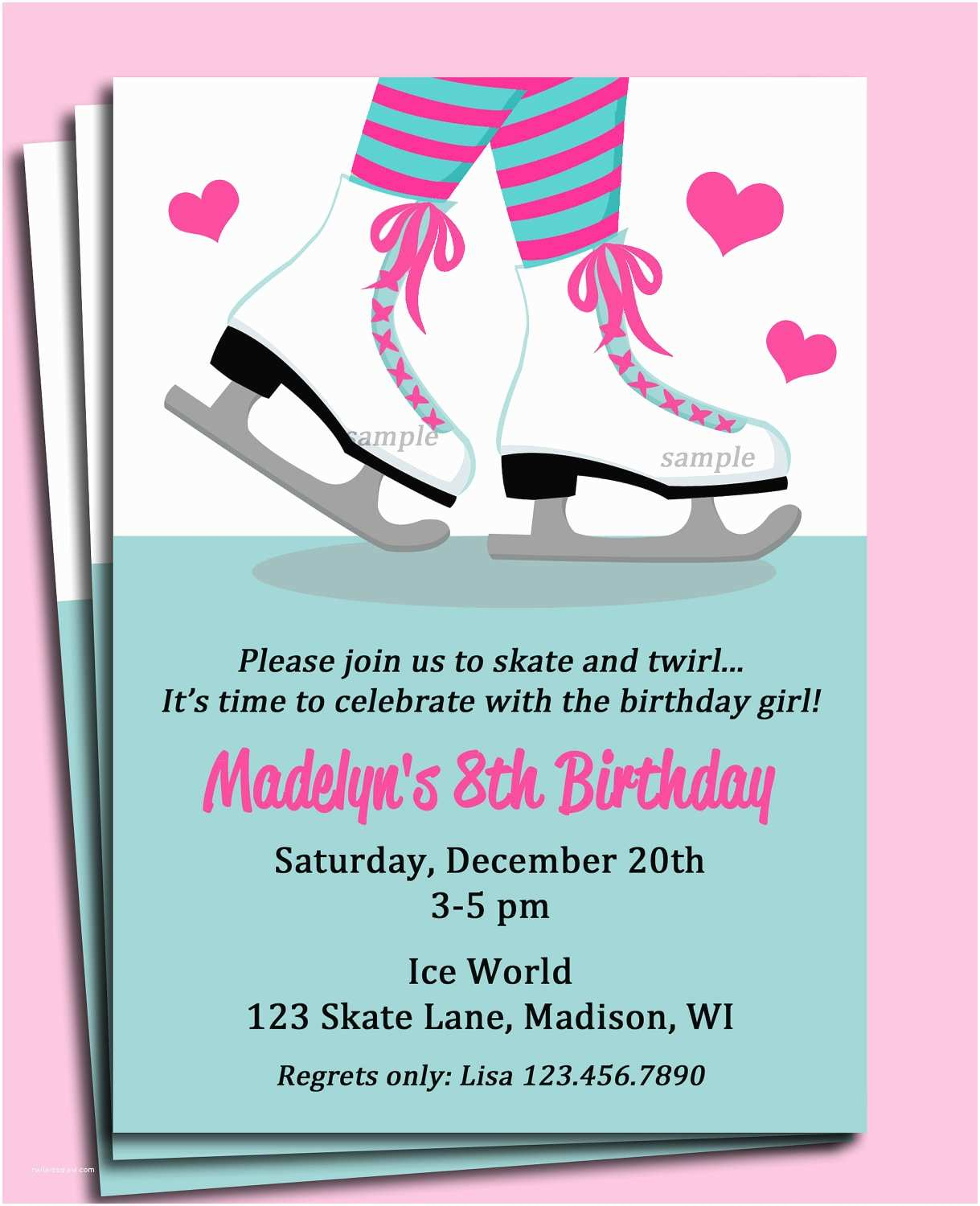 Skate Party Invitations top 10 Ice Skating Birthday Party Invitations