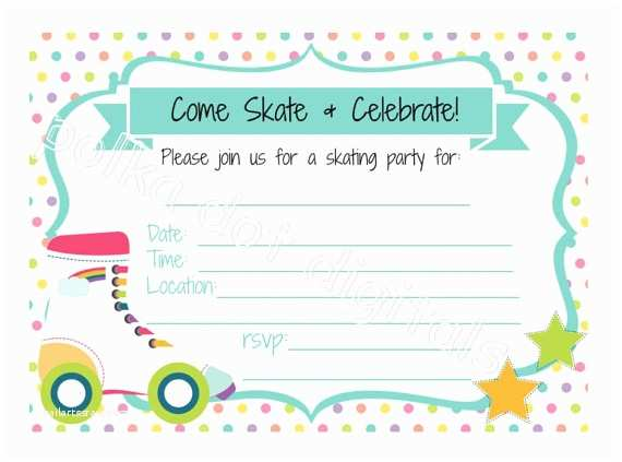 Skating Party Invitations Magnificent Skating Invitations Templates Ideas Resume