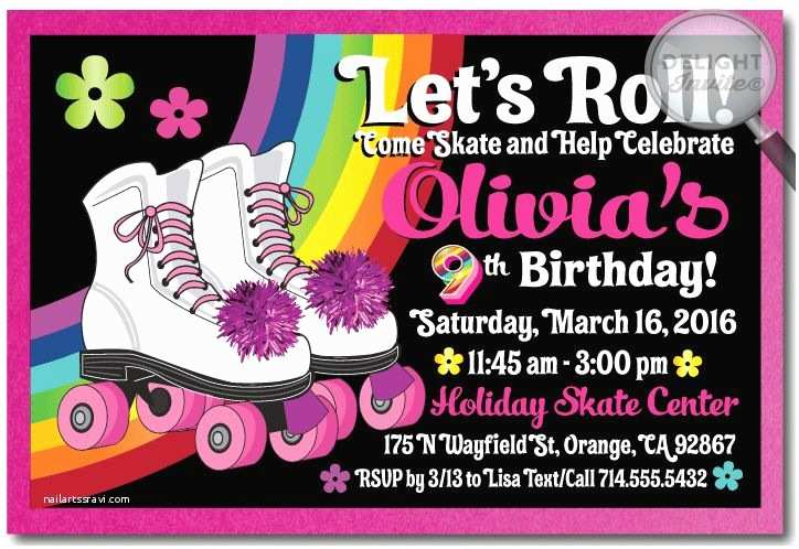 Skating Party Invitations Roller Skate Birthday Party Invitation Rollerskate Party