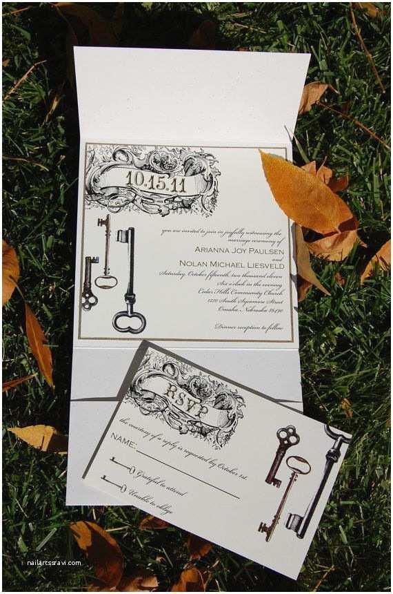 Skeleton Key Wedding Invitations 1000 Ideas About Skeleton Key Wedding On