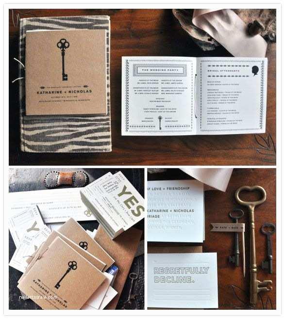 Skeleton Key Wedding Invitations Letterpress & Printing Will Edit Description &