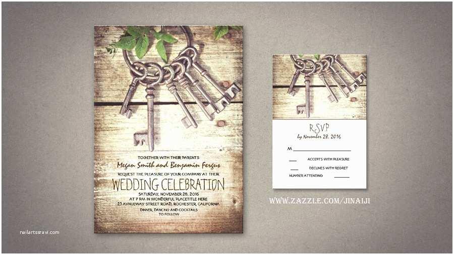 Skeleton Key Wedding Invitations Read More – Rustic Wedding Invitation with Skeleton Keys