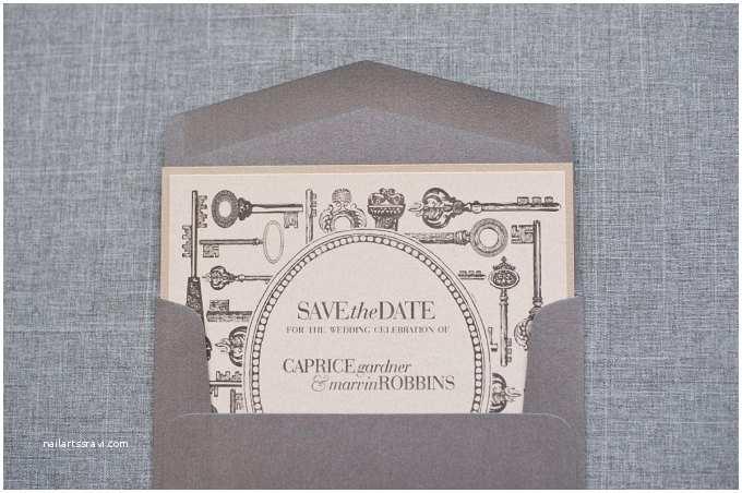 Skeleton Key Wedding Invitations Save The Date Vs Invitation What S The