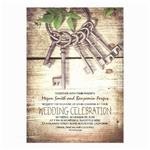 Skeleton Key Wedding Invitations Skeleton Keys Rustic Wedding Invitations