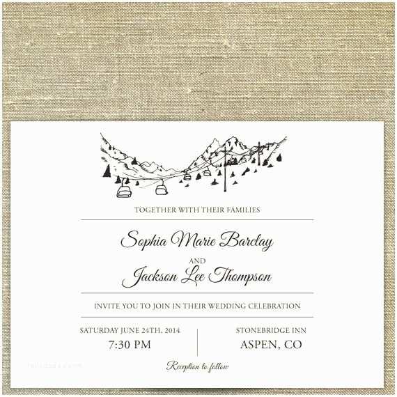 Ski Pass Wedding Invitations 52 Lovely Destination Wedding Invitation Samples Wedding