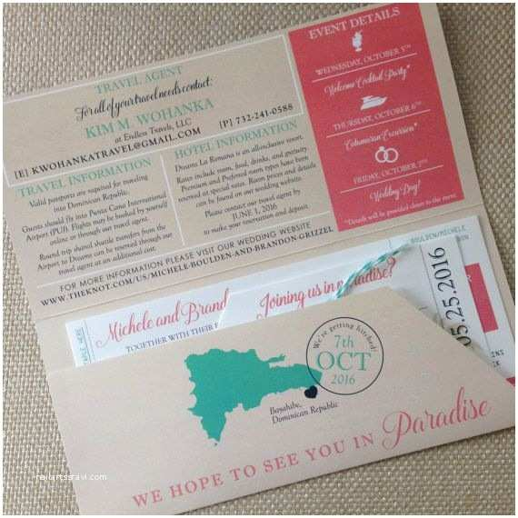 Ski Pass Wedding Invitations Destination Wedding Invitation with Reception at Home