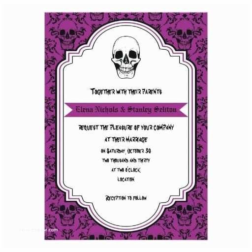 Skull Wedding Invitations 1000 Images About Wedding Ideas Purple And Skulls