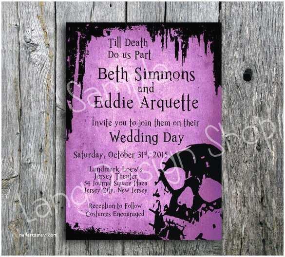 Skull Wedding Invitations 22 Halloween Wedding Invitation Templates – Free