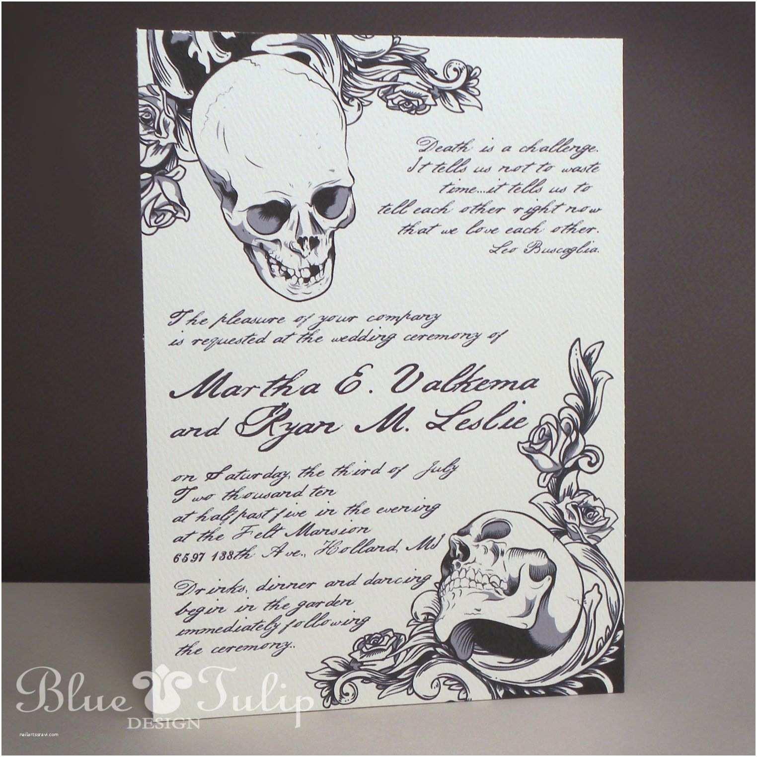 Skull Wedding  Baroque Elegance Skull