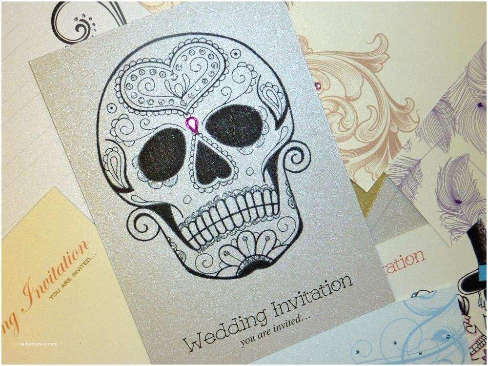 Skull Wedding Invitations Emperor Sugar Skull Dias De Los Muertos Tattoo