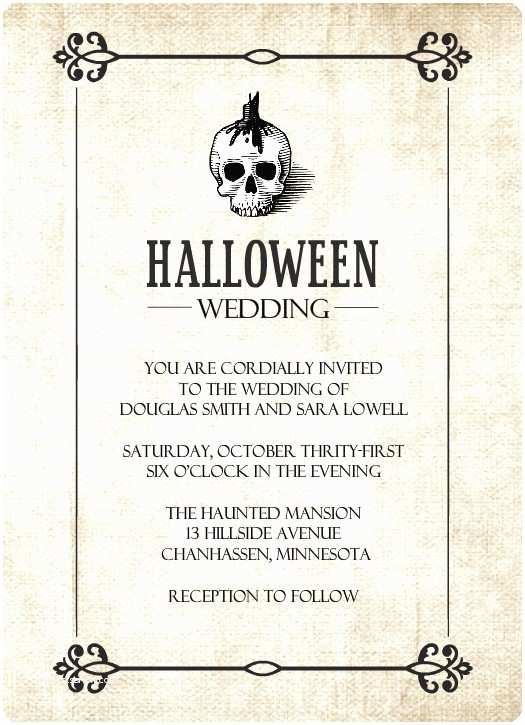 Skull Wedding Invitations Halloween Wedding Invitations Halloween Skull
