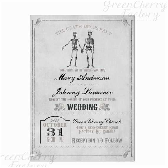 Skull  Invitations Items Similar To Vintage Gray Skull Gothic