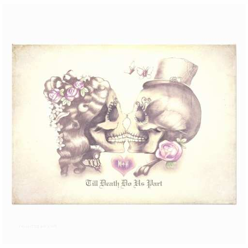 Skull Wedding  Skull Couple Day Of The Dead Wedding