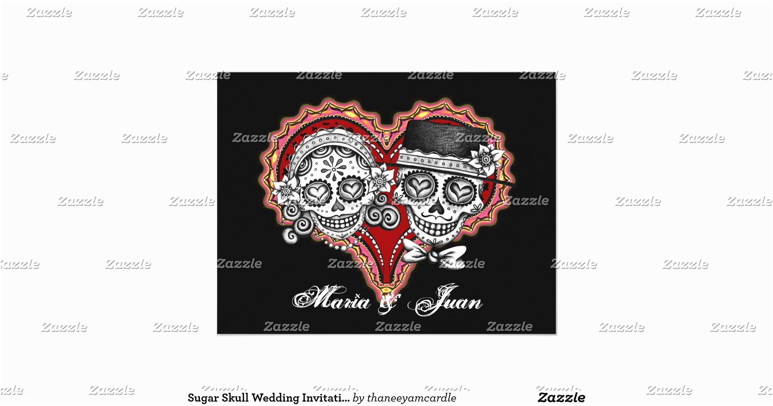 Skull Wedding Invitations Sugar Skull Wedding Invitations 2