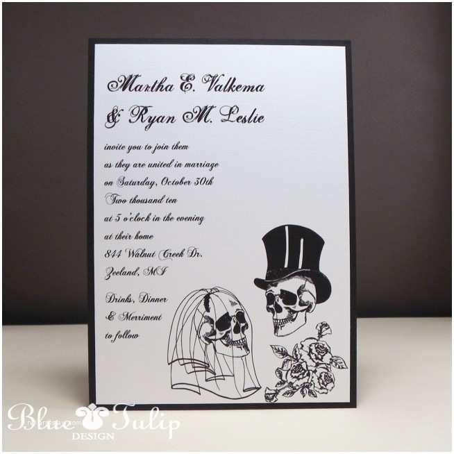 Skull Wedding  Wedding Invitation Templates Skull Wedding