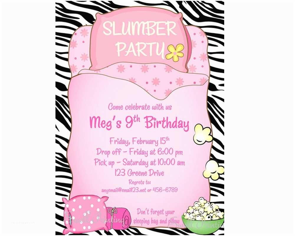 Sleepover Party Invitations Sleepover Invitation Sleepover Birthday Invitation Sleep Over