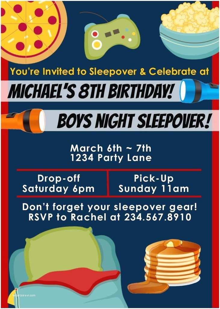 Sleepover Party Invitations top 10 Boys Sleepover Games