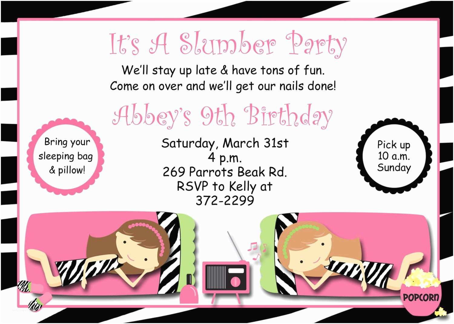Slumber Party Invitations Free Printable Slumber Party Invitations