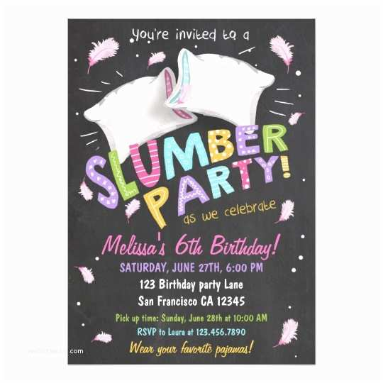 Slumber Party Invitations Slumber Party Pajamas Sleepover Invitation