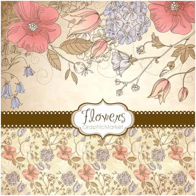 Small Wedding Invitation Cards 5 Flower Designs Digital Papers Clipart and Card