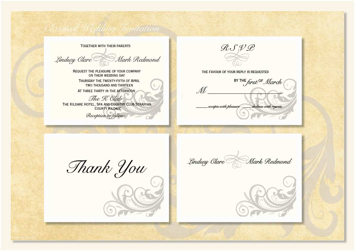 Small Wedding Invitation Cards Classical Wedding Invitations… Designed for My Sister's