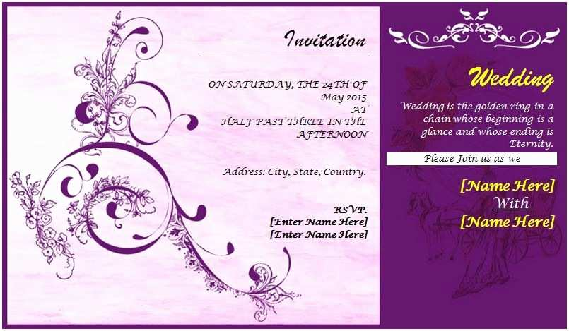 Small Wedding Invitation Cards Wedding Card Templates