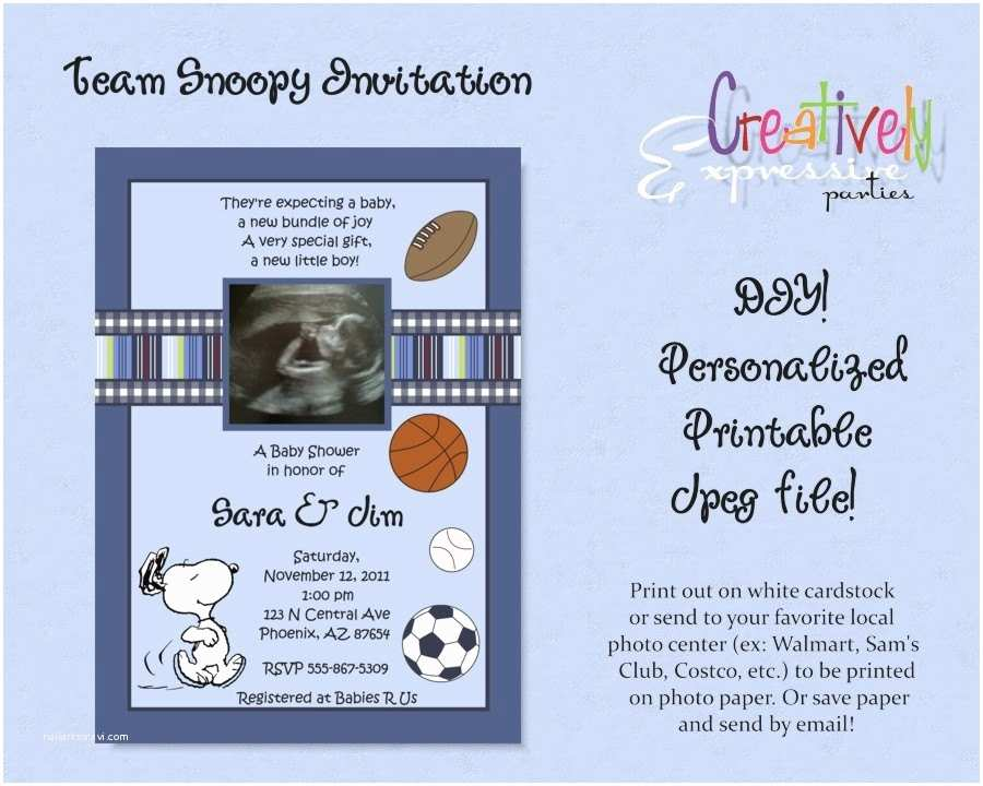 Snoopy Baby Shower Invitations Baby Shower Invitation Snoopy Baby Shower Invitations