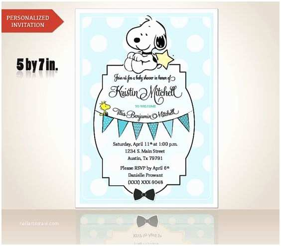 Snoopy Baby Shower Invitations Boys Babies and Baby Boy On Pinterest