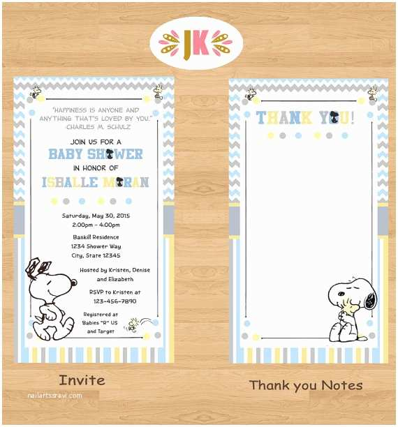 Snoopy Baby Shower Invitations My Little Snoopy Baby Snoopy Baby Shower by Jukadesignz On