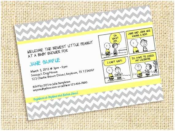 Snoopy Baby Shower Invitations Peanuts Charlie Brown Printable Invitation