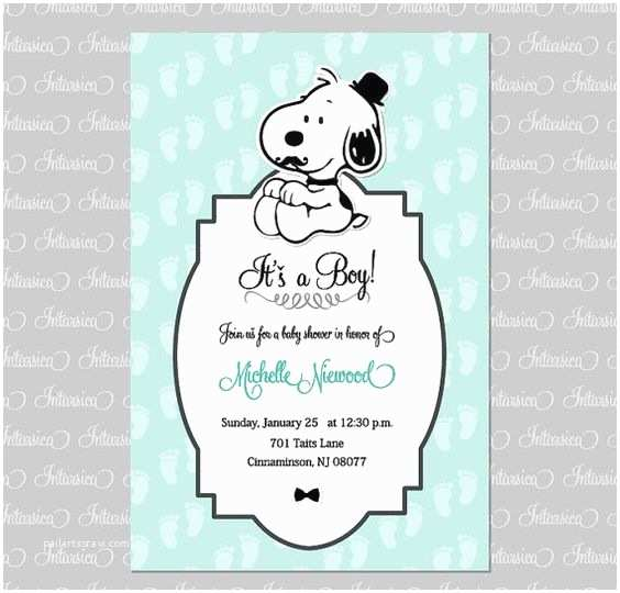 Snoopy Baby Shower Invitations Snoopy and Woodstock Stork Cute Baby Shower Invitation by