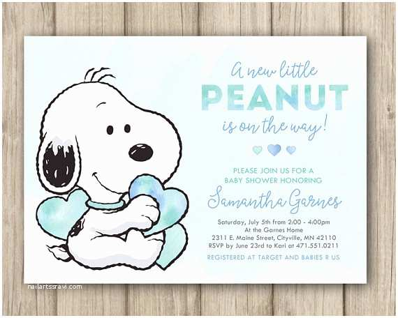 Snoopy Baby Shower Invitations Snoopy Baby Shower Invitation Peanuts Baby Shower Invitation