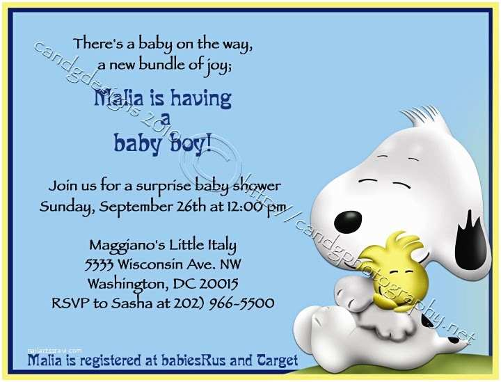 Snoopy Baby Shower Invitations Snoopy Baby Shower Invitations – Gangcraft