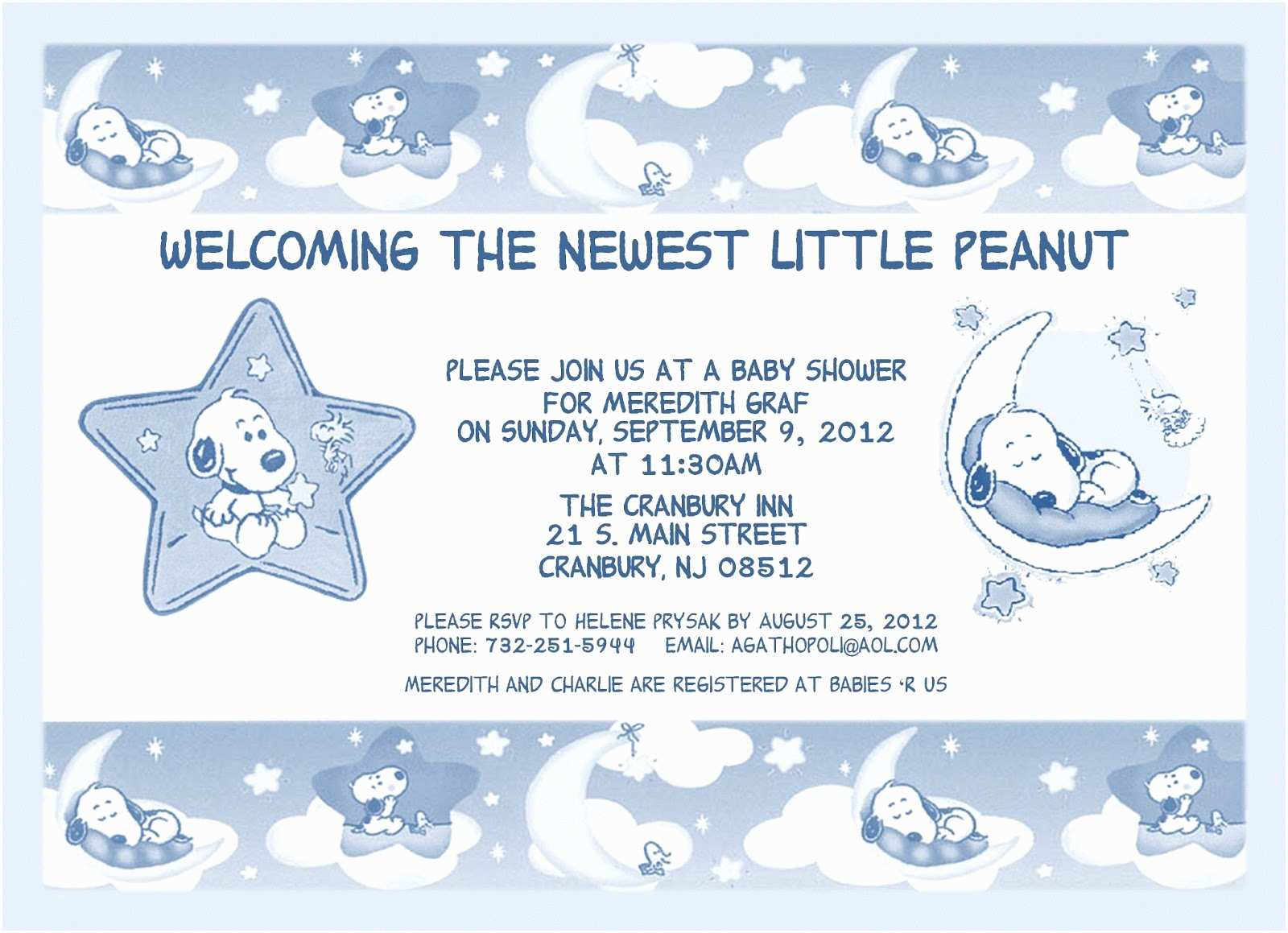 Snoopy Baby Shower Invitations the Cookie Crumbles Snoopy Baby Shower