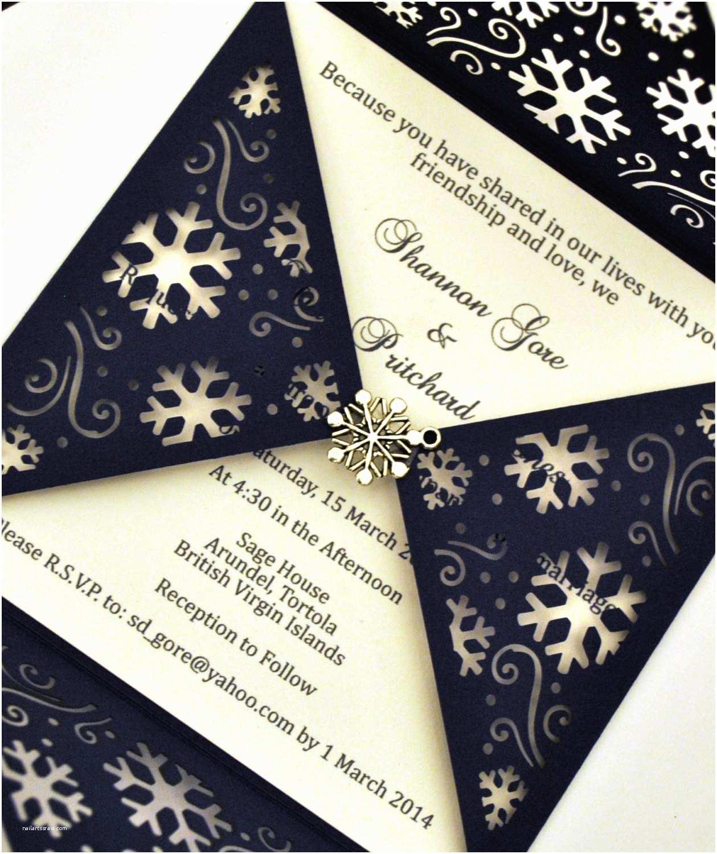 Snowflake Wedding Invitations Chandeliers & Pendant Lights