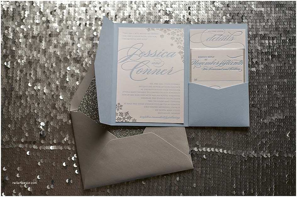 Snowflake Wedding Invitations Real Wedding Jessica and Conner