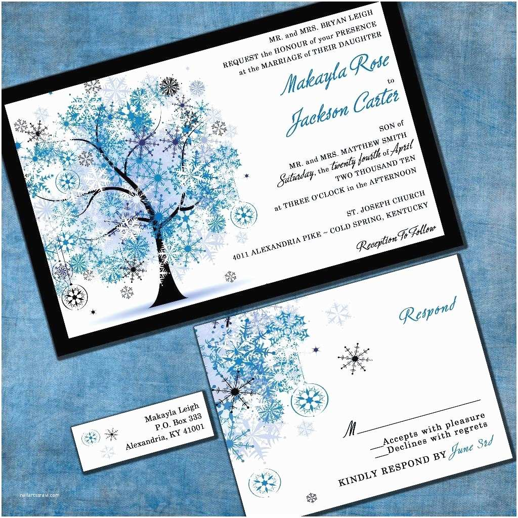 Snowflake Wedding Invitations Wedding Invitation Winter Snowflake Tree by Invitingmoments