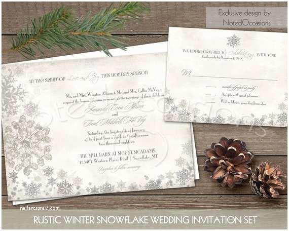 Snowflake Wedding Invitations Winter Wedding Invitation Elegant Snowflake by Notedoccasions