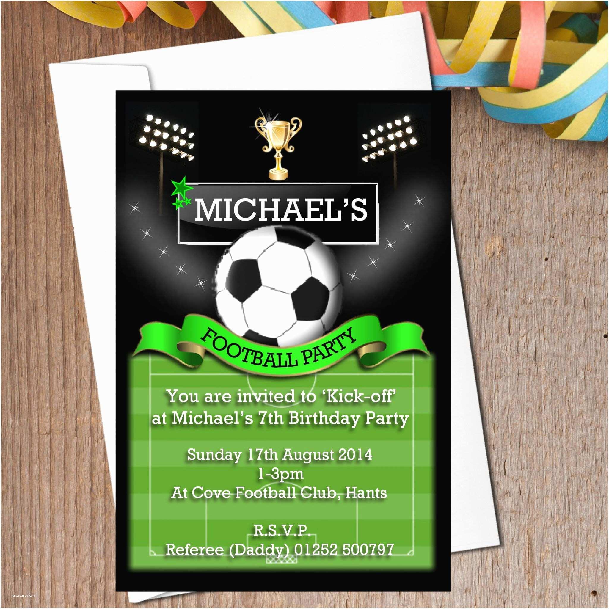 Soccer Birthday Invitations 11 Fearsome Football Birthday Party Invitations