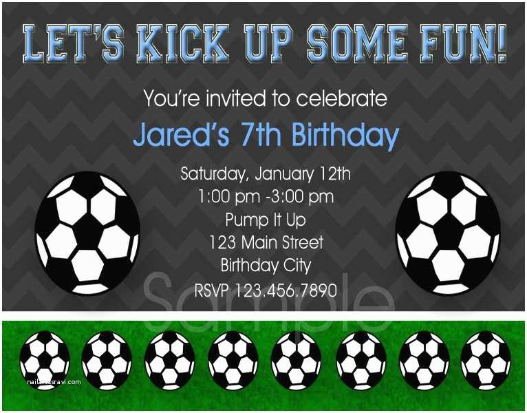 Soccer Birthday Invitations 8 Best Of soccer Birthday Printable Party