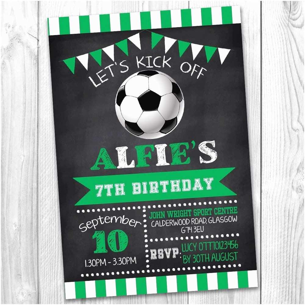 Soccer Birthday Invitations Boys Girls Football Sport Personalised Party Invitations