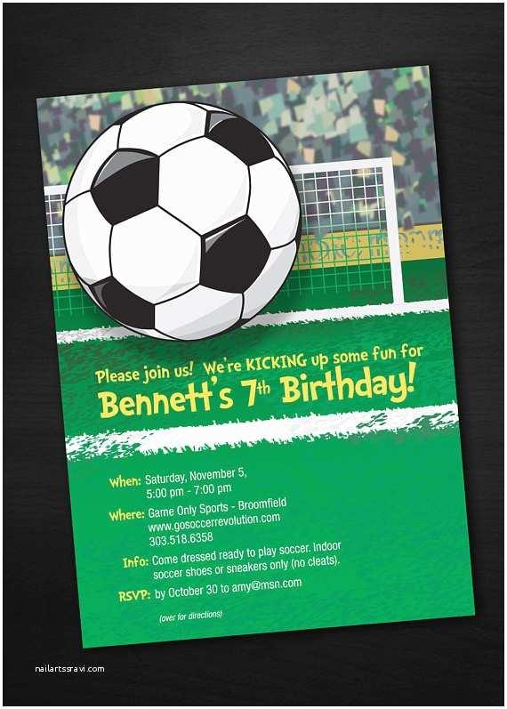 Soccer Birthday Invitations soccer Birthday Invitations