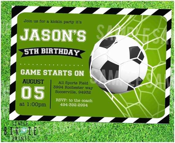 Soccer Birthday Invitations soccer Invitation soccer Birthday Party soccer Birthday