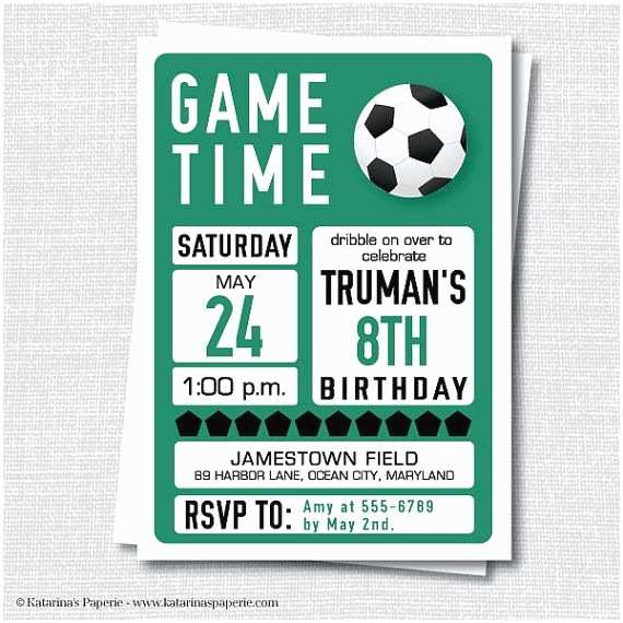 Soccer Party Invitations 25 Best Ideas About soccer Birthday Parties On Pinterest