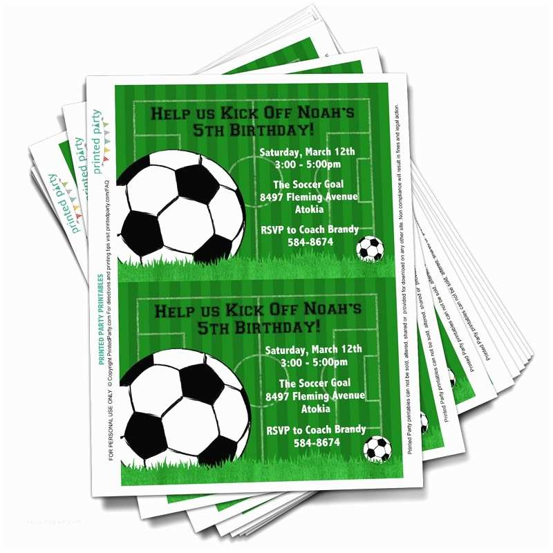 Soccer Party Invitations Birthday Party Invitation Template soccer